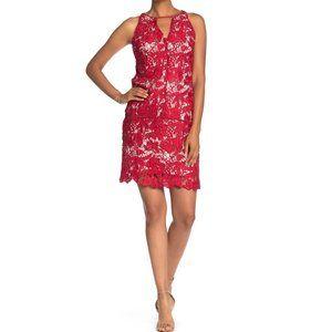 Sam Edelman NEW Lace Overlay Keyhole Shift Dress